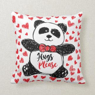 Almofada Os abraços satisfazem! Travesseiro do urso