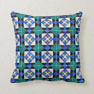Almofada Os azulejos quadrados portugueses classificam um