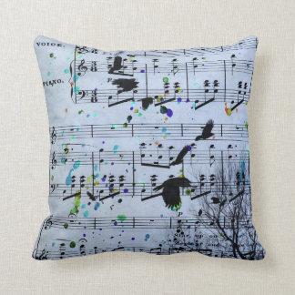 Almofada Os corvos encontram a música