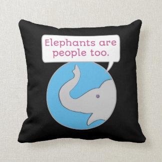Almofada Os elefantes são pessoas demasiado