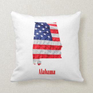 Almofada Os Estados Unidos de Alabama da bandeira americana