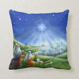 Almofada Os pastores vêm ao travesseiro de Bethlehem