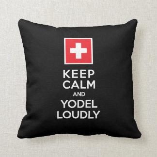 Almofada Os suíços Yodeler engraçado mantêm o Yodel calmo