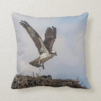 Almofada Osprey em um ninho