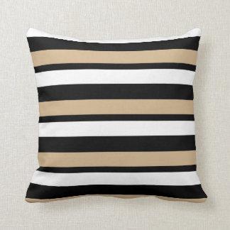 Almofada Ouro branco e travesseiro decorativo listrado