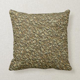 Almofada ouro de pedra irregular