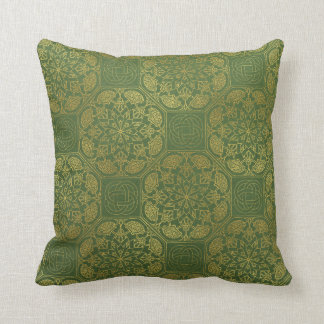 Almofada Ouro e travesseiro celta verde