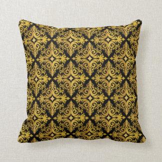 Almofada Ouro elegante e design preto do Diadem