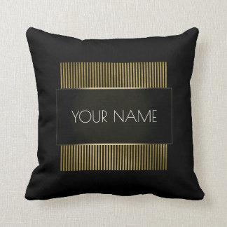 Almofada Ouro preto de marcagem com ferro quente luxo