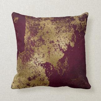Almofada Ouro sujo afligido Borgonha vermelho Vip