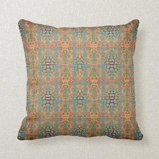 Almofada Outdoor-Indoor-Blue-Peach-Damask-Pillow-Sets
