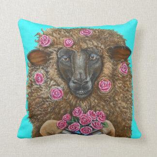 Almofada Ovelha de Luv pelo travesseiro decorativo do