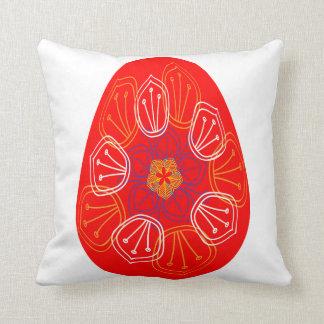 Almofada Ovos da páscoa alinhados com cores e pancadinha