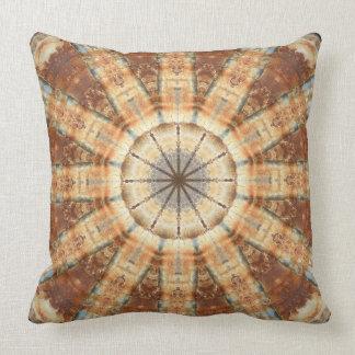 Almofada Oxidação-Mandala, cores da oxidação