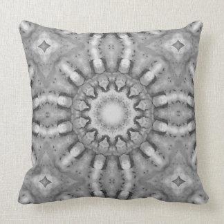 Almofada Oxidação-Mandala, ROSTart 728, preto & branco