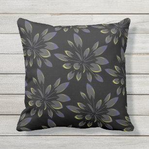 1ca651f633 Almofada Palmeiras florais do verão tropical preto
