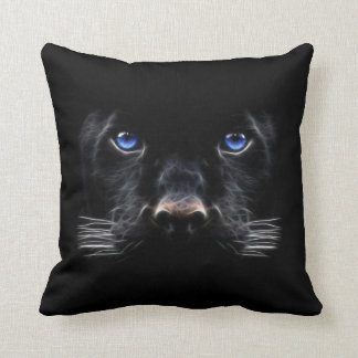 Almofada Pantera preta dos olhos azuis