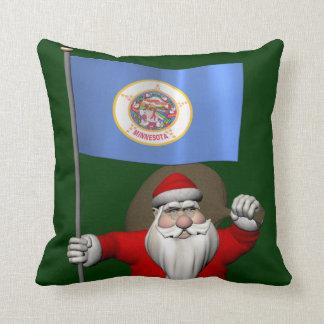 Almofada Papai Noel com a bandeira de Minnesota