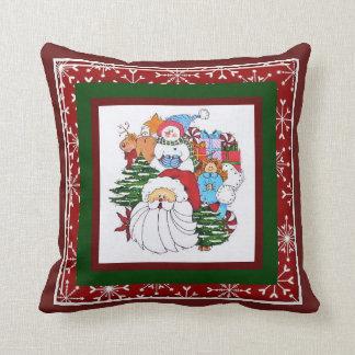 Almofada Papai noel e Sammy o travesseiro do boneco de neve