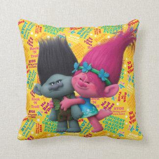 Almofada Papoila dos troll   & ramo - nenhumas impressões