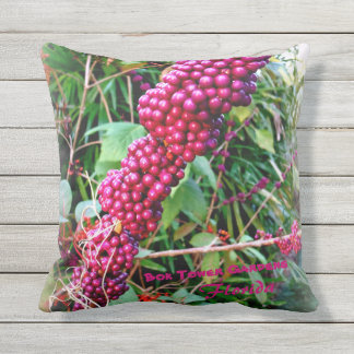Almofada Para Ambientes Externos Americano Beautyberry em jardins Florida da torre