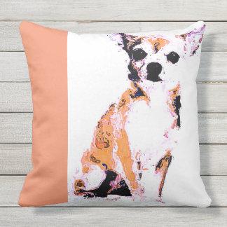 Almofada Para Ambientes Externos Chihuahua de Brown do travesseiro decorativo (de 4