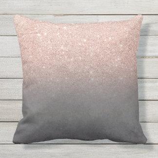 Almofada Para Ambientes Externos Concreto cinzento do cimento do ombre cor-de-rosa