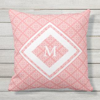 Almofada Para Ambientes Externos Coral exterior do travesseiro decorativo/monograma