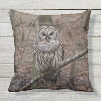 Almofada Para Ambientes Externos Coruja barrada lindo no travesseiro decorativo da