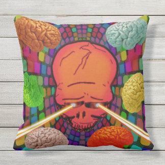 Almofada Para Ambientes Externos Crânio psicadélico