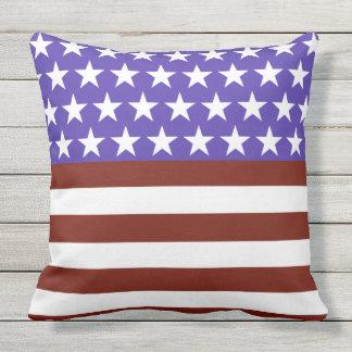 Almofada Para Ambientes Externos Da bandeira dos Estados Unidos divertimento para