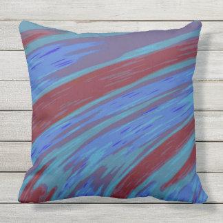 Almofada Para Ambientes Externos Design azul moderno do abstrato da cor vermelha