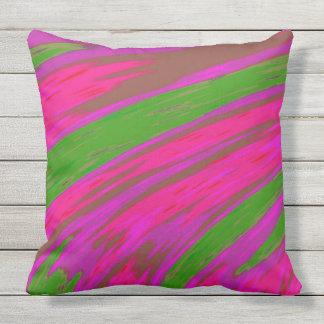 Almofada Para Ambientes Externos Design brilhante do abstrato da cor cor-de-rosa e