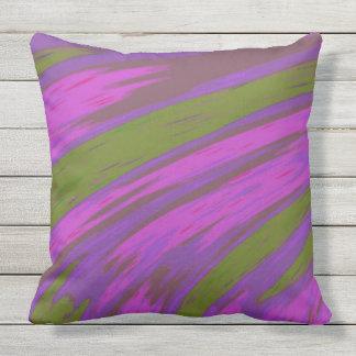 Almofada Para Ambientes Externos Design moderno do abstrato da cor roxa e verde