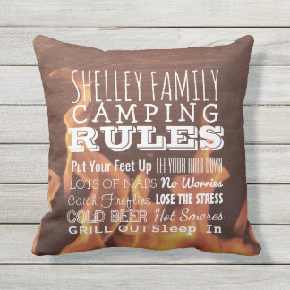 Almofada Para Ambientes Externos Exterior rústico de acampamento personalizado das