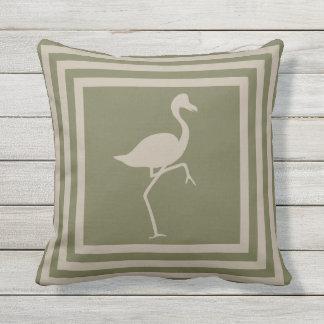 Almofada Para Ambientes Externos Flamingo geométrico OP1012 do travesseiro
