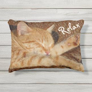 Almofada Para Ambientes Externos Gato de relaxamento