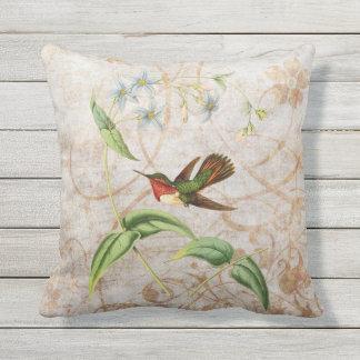 Almofada Para Ambientes Externos Grunge Scintillant do vintage do colibri