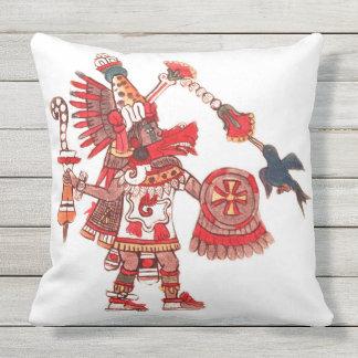 Almofada Para Ambientes Externos Guerreiro asteca do shaman da dança