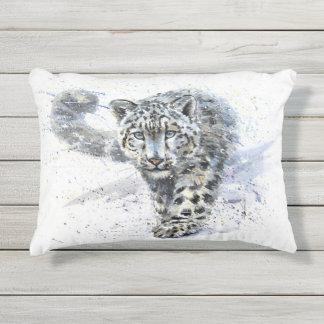 Almofada Para Ambientes Externos Leopardo de neve