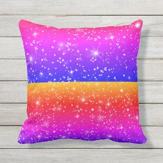 Almofada Para Ambientes Externos O zodíaco bonito Stars travesseiros coloridos