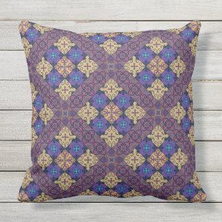 Almofada Para Ambientes Externos Ornamento de talavera do mosaico do vintage