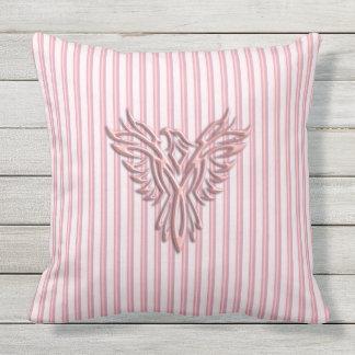 Almofada Para Ambientes Externos Phoenix de aumentação cor-de-rosa com bandas