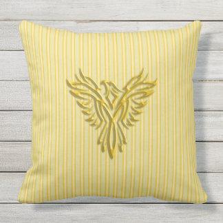 Almofada Para Ambientes Externos Phoenix de aumentação dourado com bandas douradas