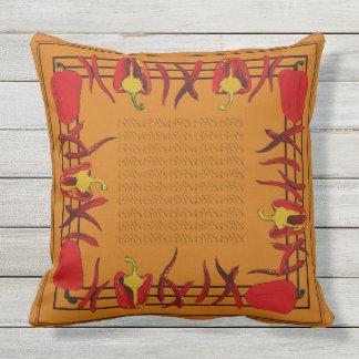Almofada Para Ambientes Externos Pimentas vermelhos escuro travesseiro projetado