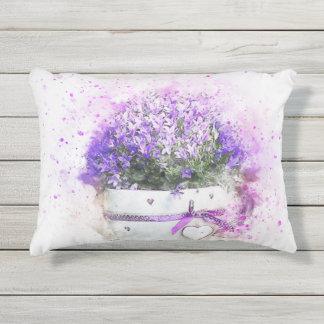 Almofada Para Ambientes Externos Splatter da pintura do flowerpot das flores da