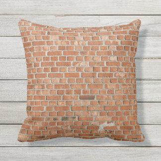 Almofada Para Ambientes Externos Textura exterior da parede do Travesseiro-tijolo