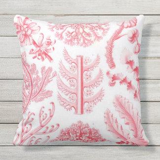 Almofada Para Ambientes Externos Travesseiro botânico do impressão de Haeckel