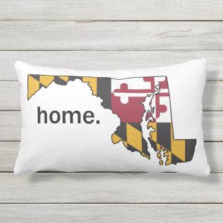 Almofada Para Ambientes Externos Travesseiro da casa da bandeira/estado de Maryland