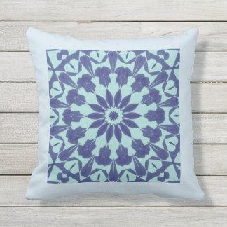 Almofada Para Ambientes Externos travesseiro decorativo azul da cor